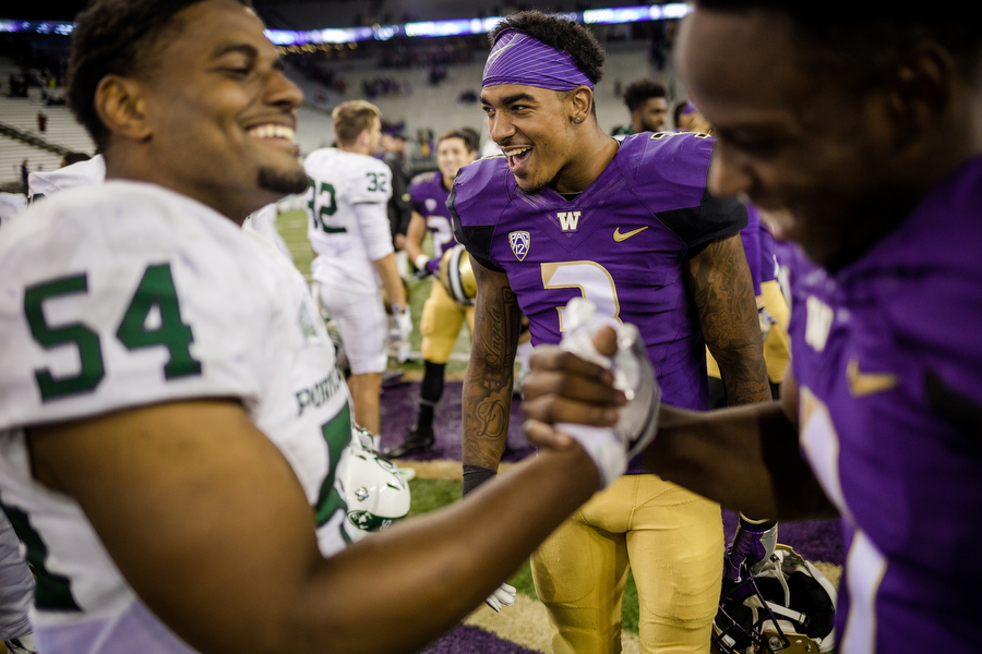 The University of Washington plays Portland State at Alaska Airlines Field at Husky Stadium, Saturday, September 17, 2016. (Photo by JORDAN STEAD | www.redboxpictures.com)